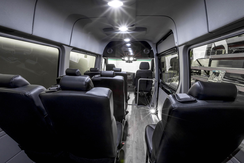 Bespoke Minibus specializes in Mercedes-Benz Sprinter van shuttle minibus conversions.